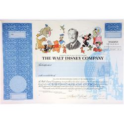 Walt Disney Co. 1989 Specimen Stock Certificate
