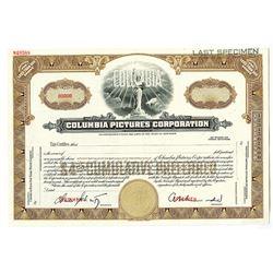 Columbia Pictures Corp., 1940-50's Specimen Stock Certificate