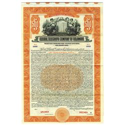 "Federal Telegraph Co. of Delaware 1923 Specimen Bond was Owned by ""RCA"""