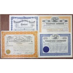 Delaware Telephone Co., 1911 to 1928, Stock and Bond Quartet
