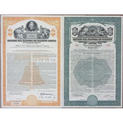 Southern Bell Telephone & Telegraph Co., 1937 and 1960 Specimen Bond Pair