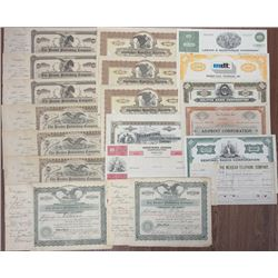 Large Group of Communication Stocks and Bonds, ca.1882 to 1972.