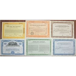 Radio & Radio Tube Bond and Stock Certificate Group of 6, ca.1929 to 1940.