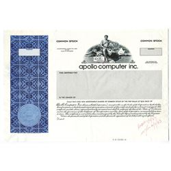 Apollo Computer Inc. 1983 Proof Stock Certificate Now Part Of Hewlett Packard.
