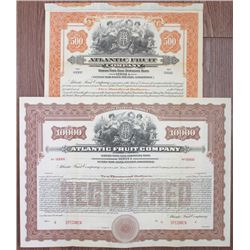 Atlantic Fruit Co., 1920 Specimen Bond Pair