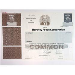 Hershey Foods Corp. 2002 Specimen Stock Certificate