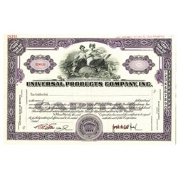 Universal Products Co., Inc. 1914 Specimen Stock Certificate