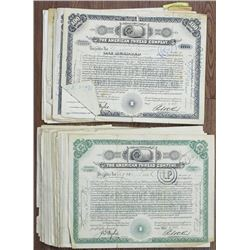 American Thread Co., ca.1916 to 1940 Stock Certificate Group