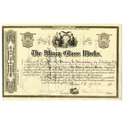 Ithaca Glass Works, 1884 I/U Stock Certificate