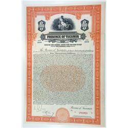 Argentina. Province of Tucuman, 1927 Specimen Bond