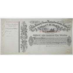 Amazon Steam Navigation Co. Ltd., ND (ca.1860-70's) Share Certificate.