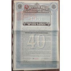 Etats-Unis du Bresil 1931 I/U Bond
