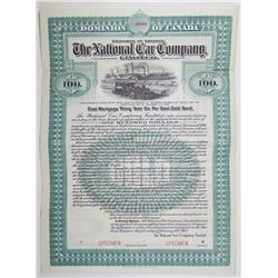 National Car Co. Ltd. 1907 Specimen Bond Rarity