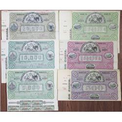 Banco Hipotecario de Chile, 1900-1920 Specimen Bond Sextet.