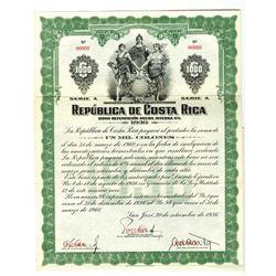 Republica de Costa Rica 1936 Specimen Bond