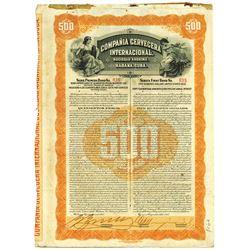 Compania Cervecera Internacional, (International Beer Company) 1915 I/U Bond.
