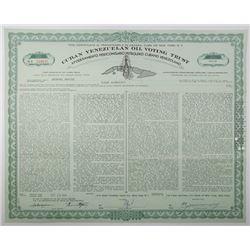 Cuban Venezuelan Oil Voting Trust 1959 Stock Certificate