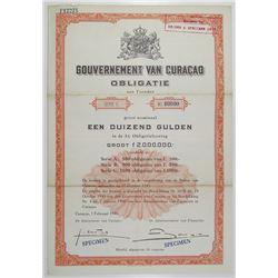 Gouvernment van Curacao 1946 Specimen Bond