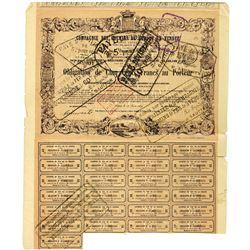 Compagnie des Chemins de Fer de la Vendee 1869 Bond