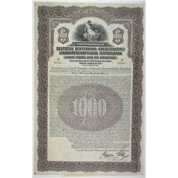 Deutsche Rentenbank-Kreditanstalt Landwirtschaftliche Zentralbank, I/U $1000 2nd Series, 6% Gold Loa