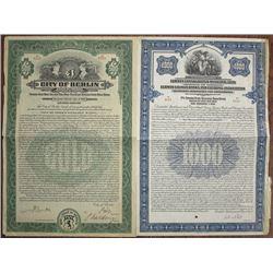 German City & Banking Bond Trio, ca.1926 & 1926.