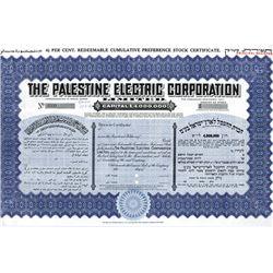 Palestine Electric Corp Ltd., 1950 Specimen Share Certificate