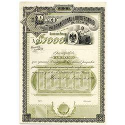 Banco Internacional e Hipotecario de Mexico, 1890 Proof Bond