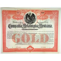 Compania Metalurgica Mexicana, 1897 Specimen Bond