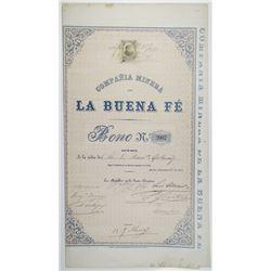 Compania Minera de la Buena Fe 1875 I/U Bond