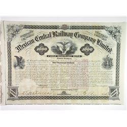 Mexican Central Railway Co. 1881 I/U Bond