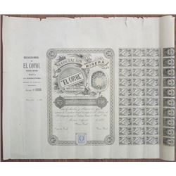 """Negociacion Minera """"El Coyol"""" 1899 Bond"""