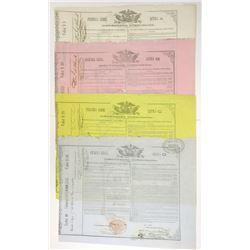 Republica Mexicana, 1863 Cancelled Bond Group