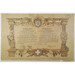 North-Holland Society, The White Cross 1888 I/U Bond