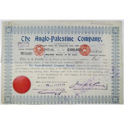 Anglo-Palestine Co. 1914 I/C Share Certificate