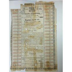 Papal State (Stato & Governo Pontificio) $25 Gold Bond 1866.