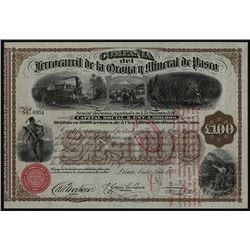 Ferrocarril de la Oroya y Mineral de Pasco 1878 Bond