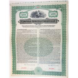 Compania Agricola Carabayllo 1920 Specimen Bond