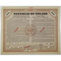 Republic of Poland, Temporary Bond: Exchangeable for a Like Aggregate Principal Amount of Definitive