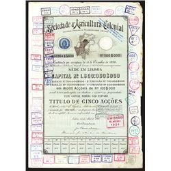 Sociedade d'Agricultura Colonial, 1902 I/U Bond.
