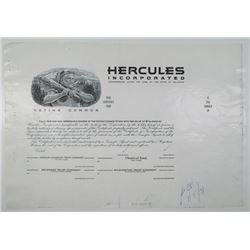 Hercules Inc. 1971 Progress Proof Stock Certificate