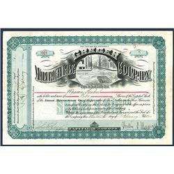 Greger Manufacturing Co., 1900 I/U Stock Certificate