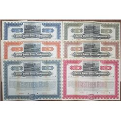 United States Steel Corp., 1901 Specimen Group of 6 Different Bonds