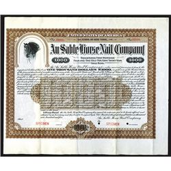 Au Sable Horse Nail Co. 1905 Specimen Bond