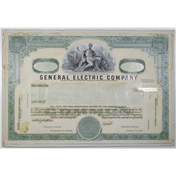 General Electric Co. 1976 Unique Proof Mockup Stock Certificate.
