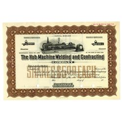 Hub Machine, Welding and Contracting Co. 1910-20 Specimen Stock Certificate