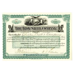 Troy Steel Co. 1896 I/U Stock Certificate