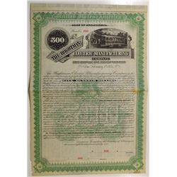 Wightman Electric Manufacturing Co. 1891 Specimen Bond