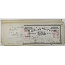 Colorado. Signal Ditch Co., Stock Certificates, ca.1904-1915.