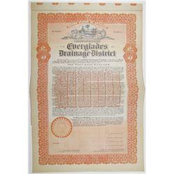 Everglades Drainage District 1917 Specimen Bond