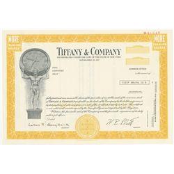Tiffany & Co. 1975 Specimen Stock Certificate